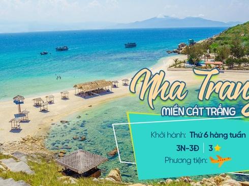 Tour Nha Trang - Du Ngoạn Đảo - Chùa Long Sơn - Nhà Yến - Tháp Bà Ponagar, 3n2d, đường bay từ Hà Nội
