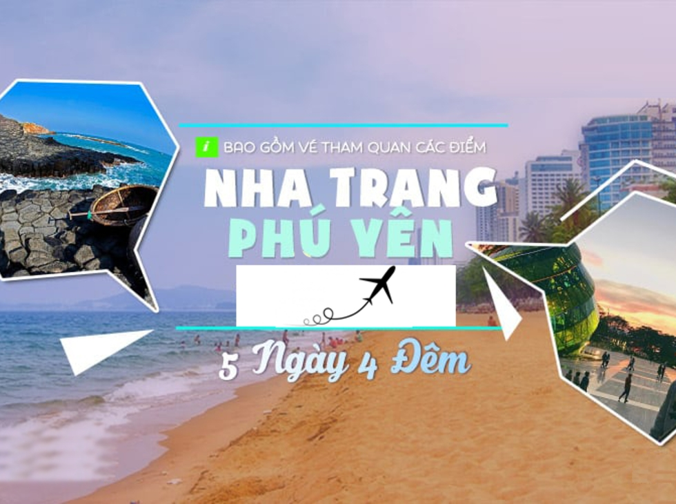 Tour Nha Trang - Phú Yên 5n4d, Đường bay từ Hà Nội
