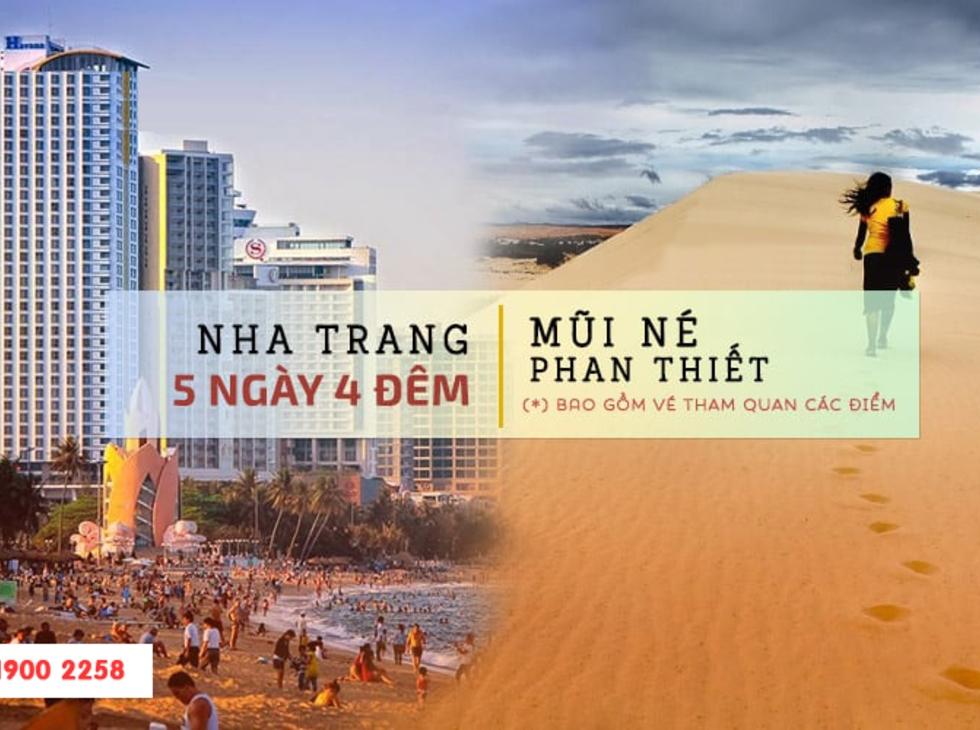Tour Nha Trang- Phan Thiết Mũi Né 5n4d, đường bay từ Hà Nội