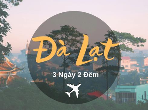 Tour Đà Lạt 3n2d, đường bay từ Hà Nội