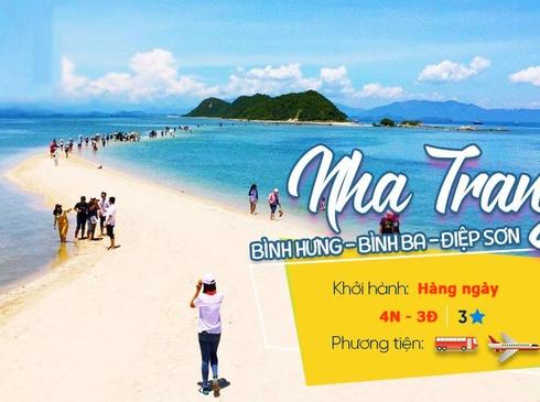 Tour Nha Trang- Bình Ba/Điệp Sơn 4n3d, đường bay từ Hà Nội