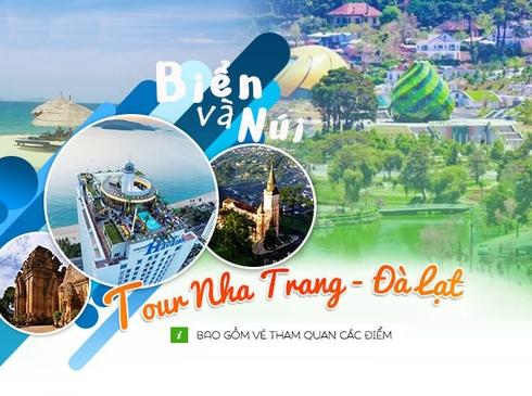 Tour Nha Trang Đà Lạt 4n3d, đường bay từ Hà Nội