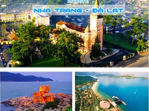 Tour Nha Trang Đà Lạt 5n4d, đường bay từ Hà Nội
